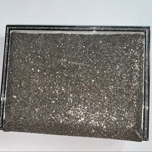 pre-loved authentic JUDITH LEIBER glitter CLUTCH